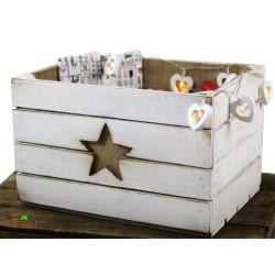 Rustikale Adventskiste für Adventsgeschenke