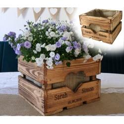 Vintage OBSTKISTE aus Holz - Personalisiertes Hochzeitsgeschenk