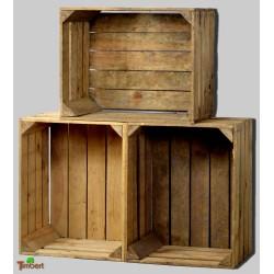 Alte massive OBSTKISTEN Holzkisten aus dem alten Land - A-Ware