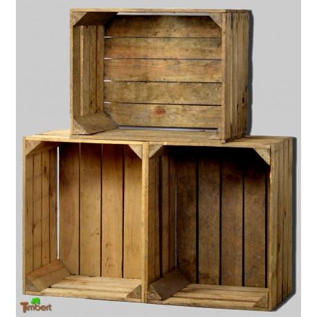 Alte massive OBSTKISTEN Holzkisten aus dem alten Land - A-Ware (aus DE)