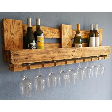 Vintage WEINREGAL aus EURO-PALETTEN Weinbar aus Holz